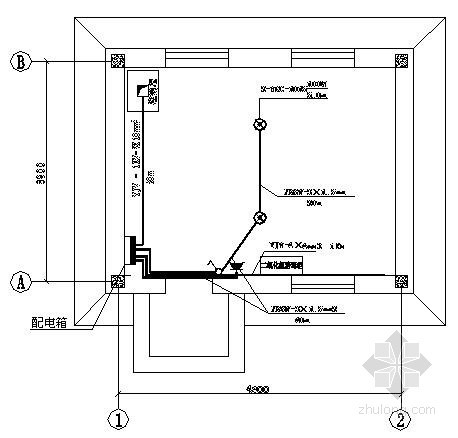[河南]某小型泵房电气施工图纸