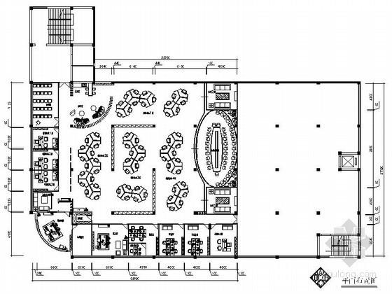 某现代格局办公空间平面图