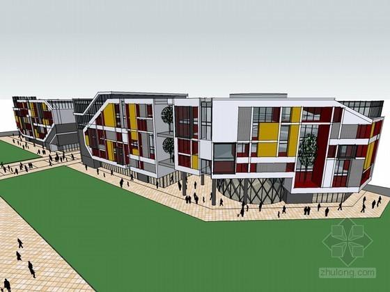 时尚商业建筑SketchUp模型下载-时尚商业建筑