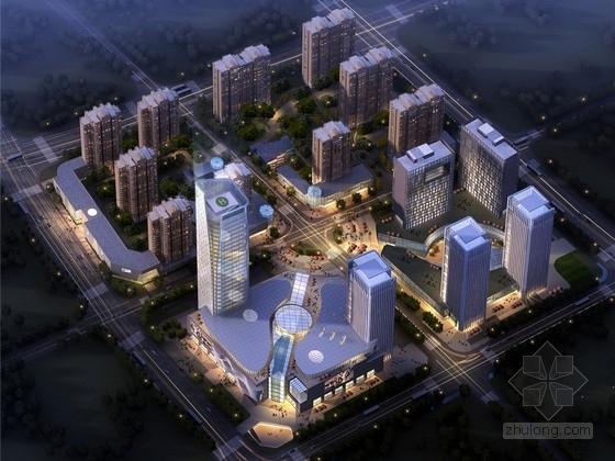 [江苏]现代风格物流园及配套超高层住宅区规划设计方案文本(含CAD)