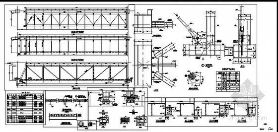 某钢桁架连廊节点构造详图