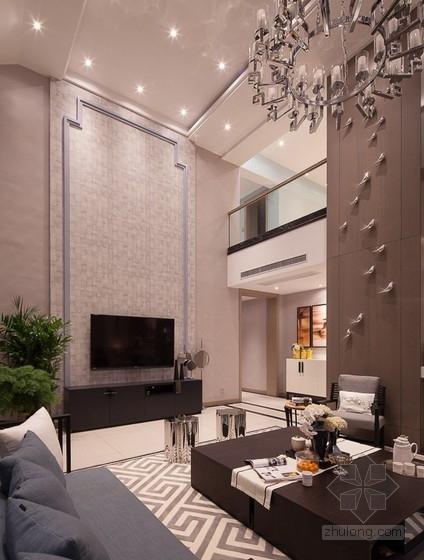 时尚清新又精致的别墅设计方案(含实景图)方案图