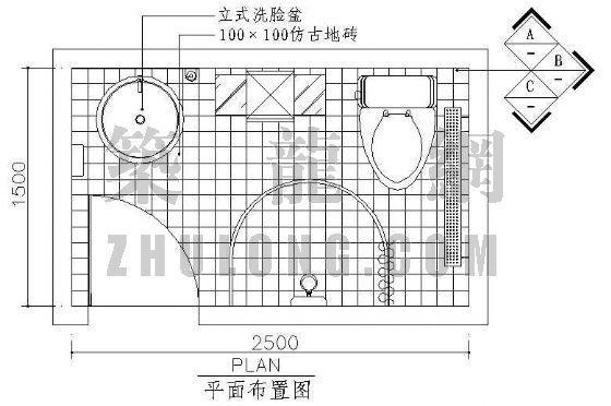 卫生间平面图5