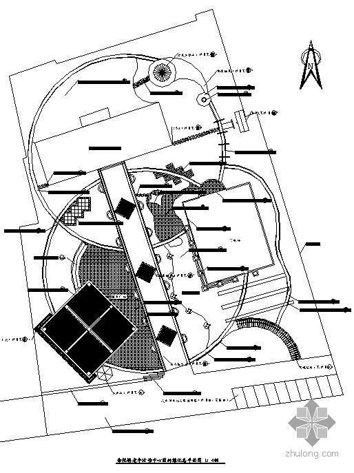杭州老年活动中心景观施工图全套