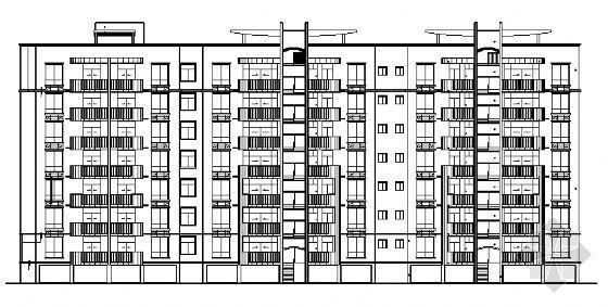 小区某八层住宅建筑施工图
