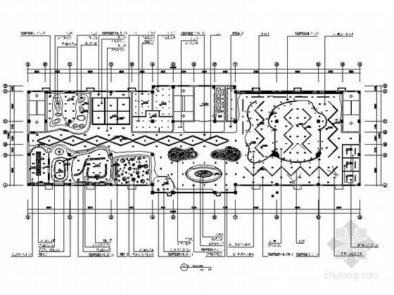 [江苏]某现代风公司办公室及展厅室内装修施工图(含效果)