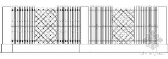 竹篱笆围墙节点详图