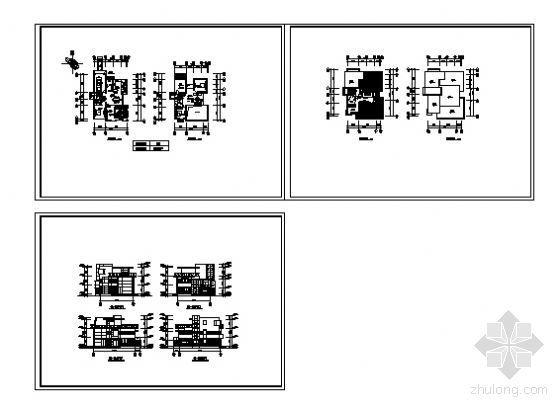 上海某高档小区楼群建筑方案图-3