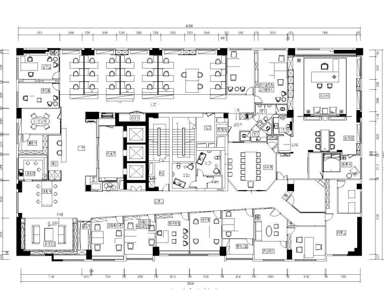 现代混搭风格凯隆地产办公室装修设计施工图+效果图