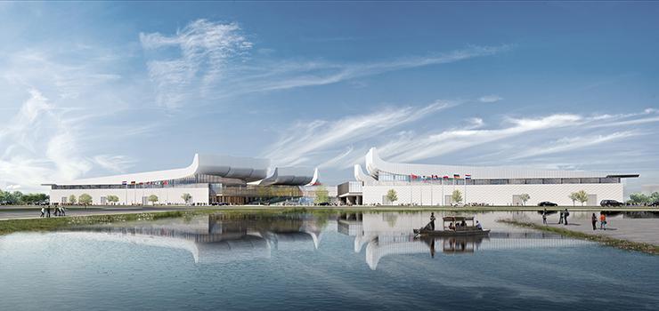 全国7大会展中心设计合集(实景图+效果图)-23-配套企业总部中心效果图