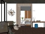 成套北欧风格SU模型【客厅/卧室】