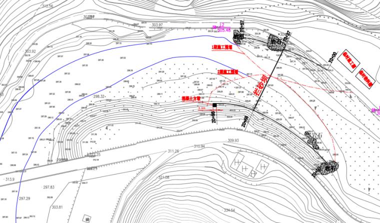 重力式挡土墙拦砂坝工程施工图