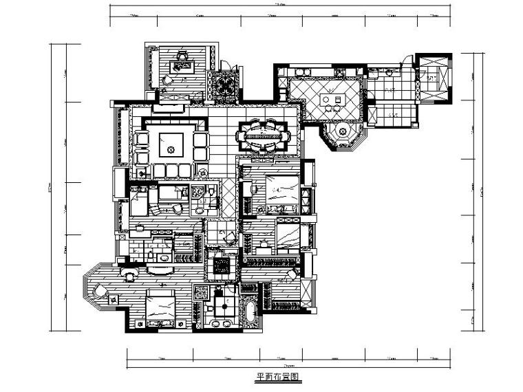 [成都]欧式精致优雅别墅室内设计施工图(含多张实景图)