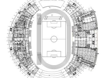 [内蒙古]国家北方足球训练基地体育场强弱电全套施工图含无功补偿