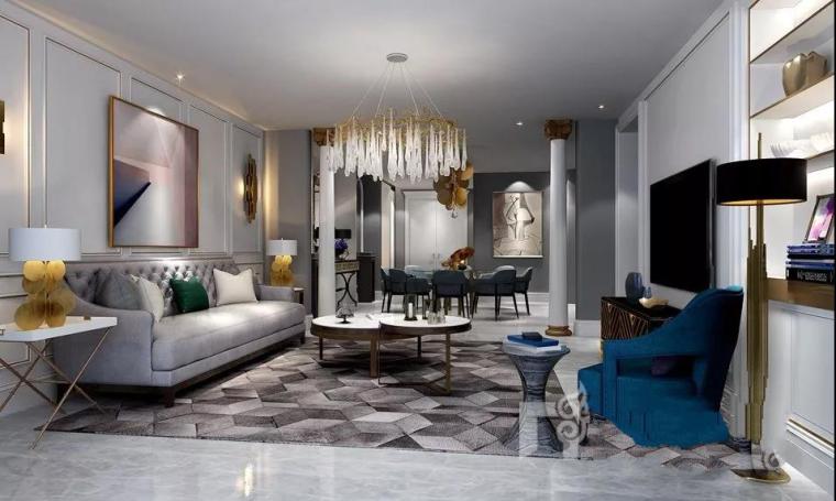 蓝调畅想|400平法式风格别墅设计案例-1.png