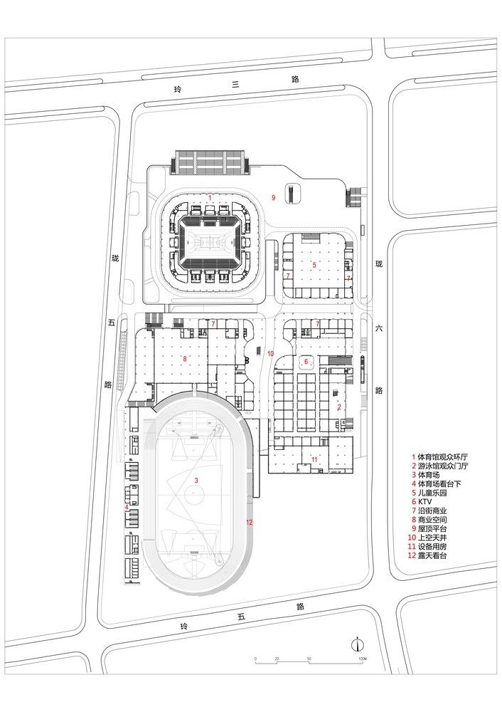 临安半透明轻盈的体育文化会展中心平面图 (24)