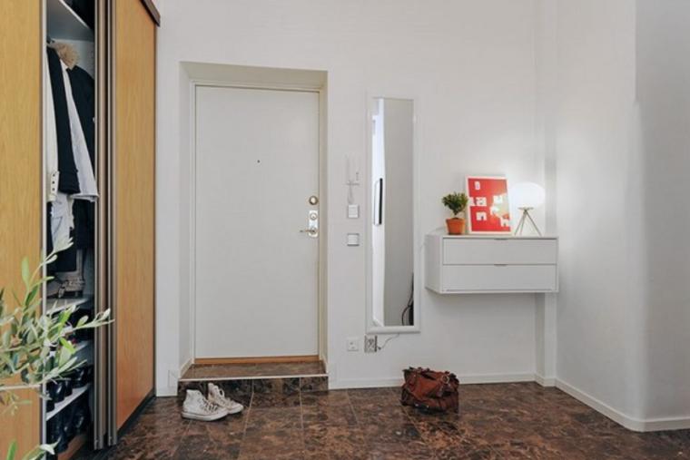 大气岛台设计——白色北欧风格两居室实景图