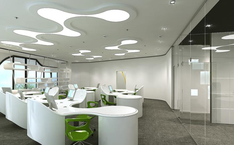 某化妆品办公楼室内设计方案效果图