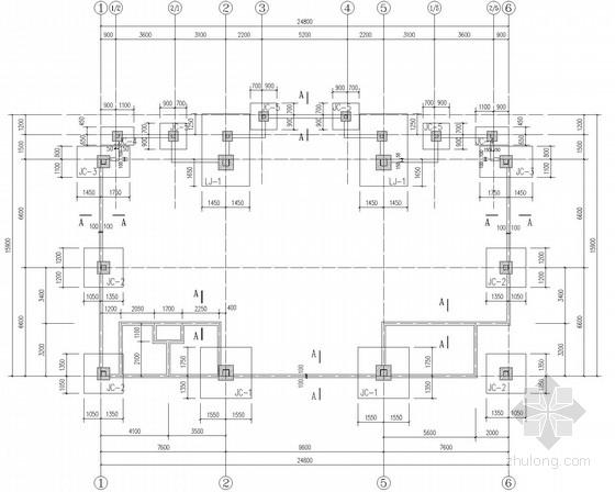 两层钢框架临时建筑结构施工图