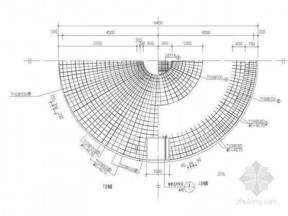 垃圾处理厂化粪池建筑结构图