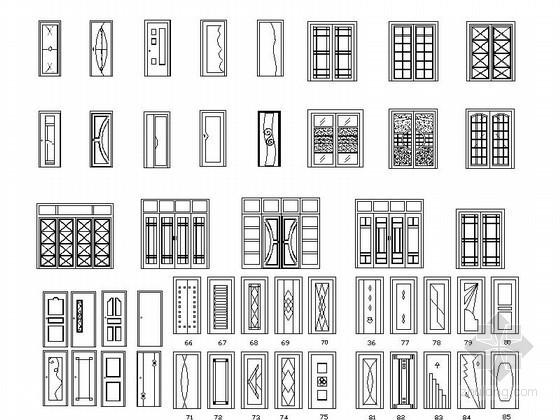 全套家装立面CAD图块下载