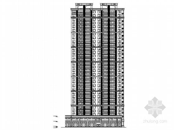31层现代风格一梯两户住宅建筑设计施工图(2015年)