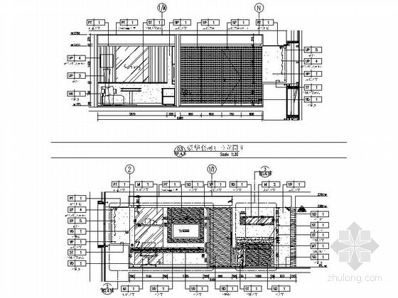 [四川]2.79亿夺标大厦改建四星级高档奢华酒店装修施工图(含方案)豪华套房立面图