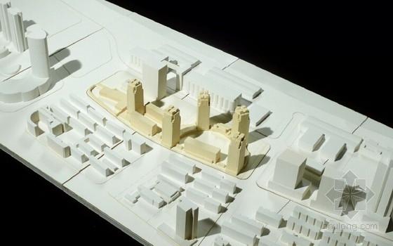 高层住宅楼建筑模型照片