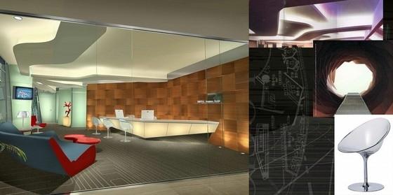 [深圳]全资跨地域国际化现代酒店设计方案图商务中心效果图