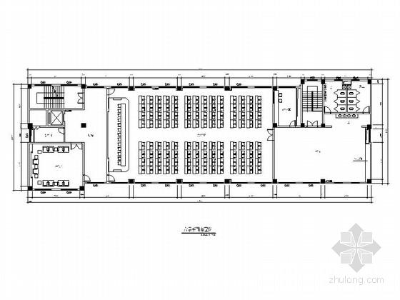 [安徽]简洁综合办公楼大会议室装修施工图