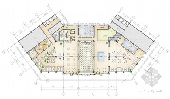 [江苏]都市综合体现代意大利米兰风格售楼处概念设计方案