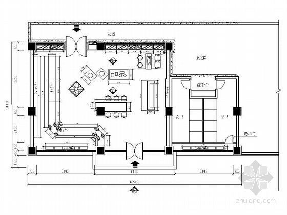 现代药商贸城虫草行店面设计装修施工图(含效果)
