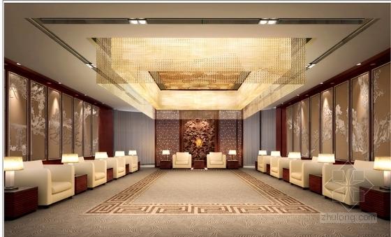 [南京]国家旅游景区现代科技活动中心室内装修施工图(含效果)效果图