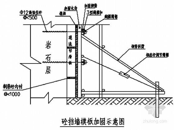 [重庆]某高边坡板肋式锚杆挡墙支护工程施工方案