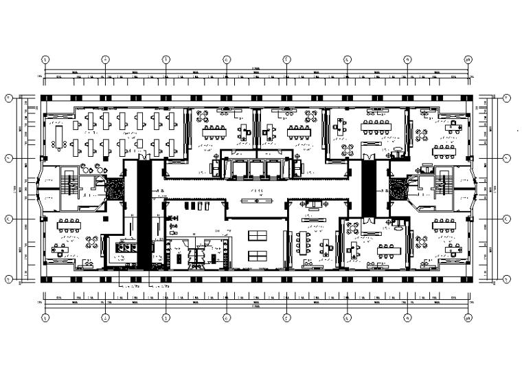 全套精典创意办公室设计施工图(含效果图)