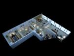 现代办公3D模型下载