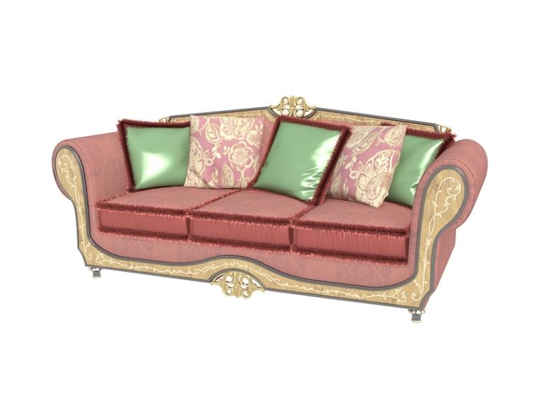欧式美丽沙发3D模型下载