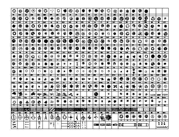 数百种CAD平面树图例