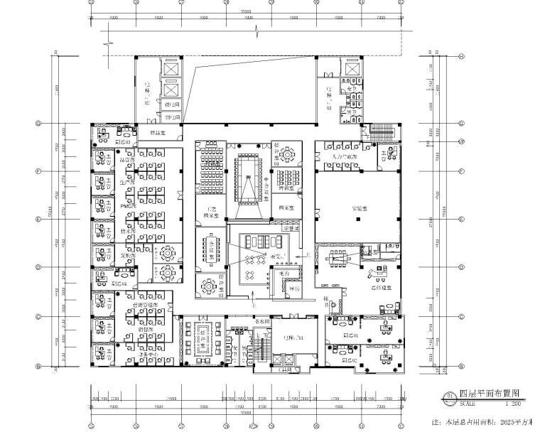 [北京]金德威科技园办公楼室内装修施工图+效果图