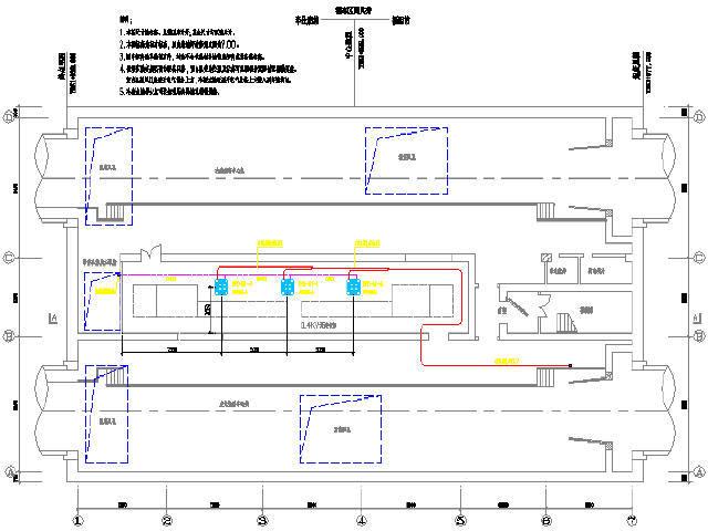 [广东]地铁地下二层区间风井及区间跟随所通风空调及变频多联空调施工图39张CAD