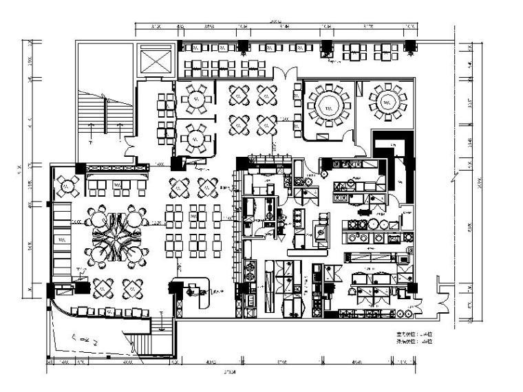 [珠海]时尚特色港式餐厅设计施工图(含效果图)