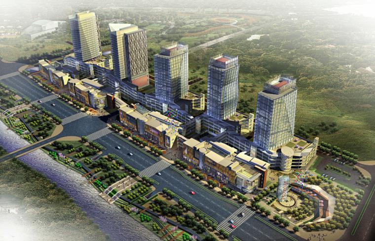 浙江省瑞安市瑞祥新区商业步行街规划建筑设计方案