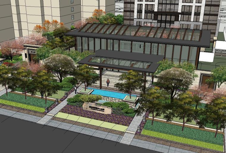 [北京]保利东郡居住区景观模型设计(中式风格)