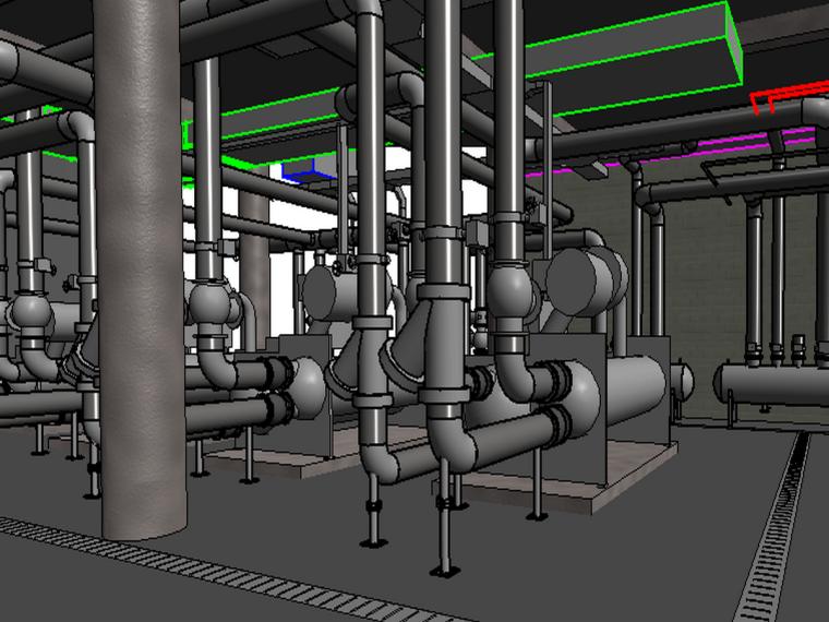 BIM模型-revit模型-制冷机房模型