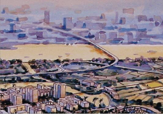 抚州市城市新区中心区控制性详细规划设计方案-02海鸥大桥入口