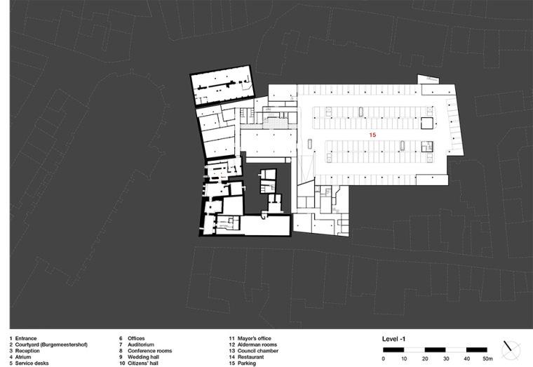 全新代芬特尔市综合体建筑平面图(14)