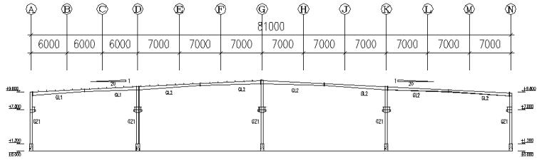 华辉公司单层单山单跨门式刚架厂房工程(CAD,12张)_5