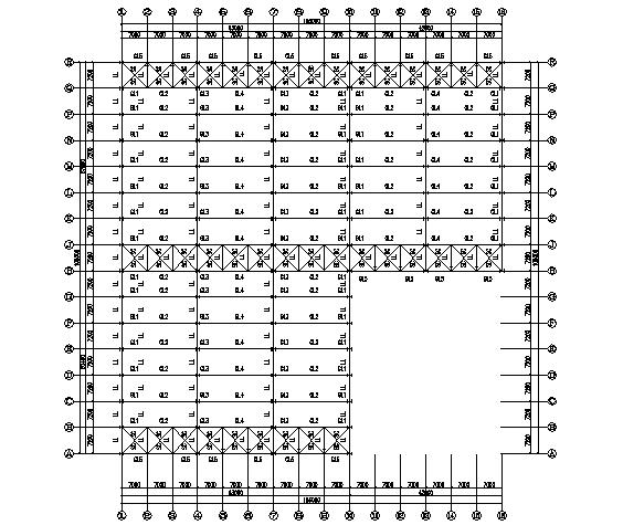 莆田通用公司门式刚架结构施工图(CAD,10张)