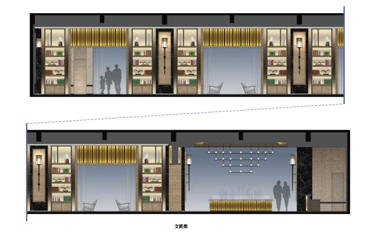 [重庆]现代风格售楼处概念方案设计施工图(附效果图+物料表)-效果表现