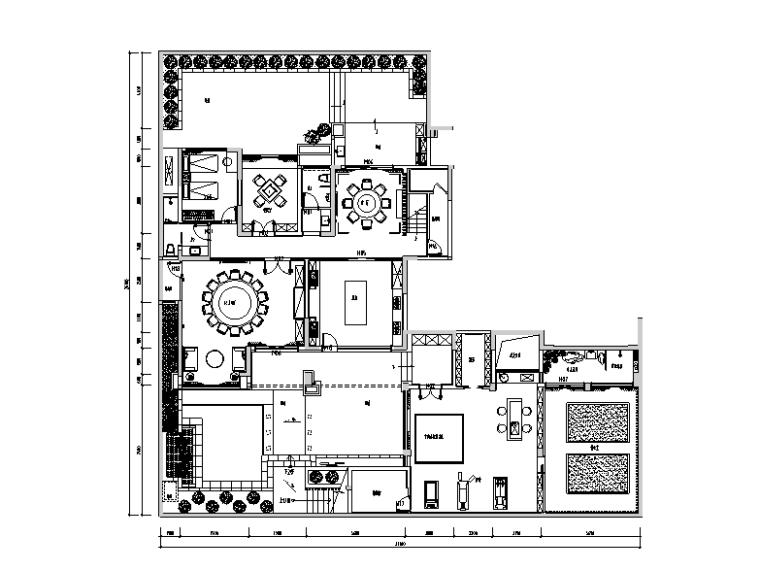 南康刘府三层别墅设计施工图(附效果图)
